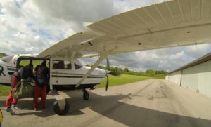 C206 Solon beim boarding