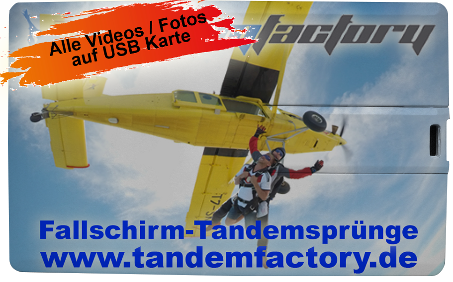 Your Tandem skydive on photo / video