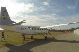 Cessna C08 beim Boarding