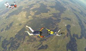 Fallschirmsprung über Leutkirch im Allgäu
